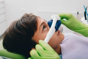 Young boy undergoing sedation dentistry in Ellington